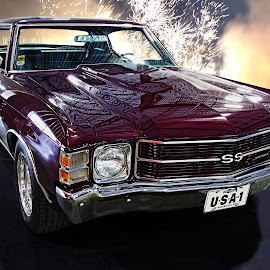 Candice's Dream by JEFFREY LORBER - Transportation Automobiles ( purple, carphotoz, lorberphoto, chevelle, rust 'n chrome, purple car, cghevy, jeffrey lorber )