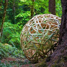 Japanese Bamboo Ball by Richard Duerksen - Artistic Objects Other Objects ( bamboo, portland, japanese garden, art )
