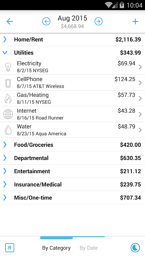 Home Budget with Sync Screenshot 2