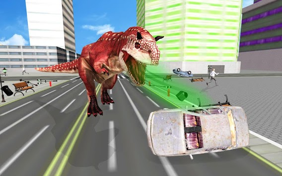 Super Dinosaur Attack Dino Robot Battle Simulator APK screenshot thumbnail 1