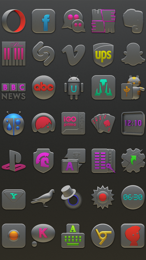 NANO Next Launcher 3D Theme Screenshot 3