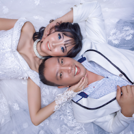 by Chandra Wirawan - Wedding Bride & Groom