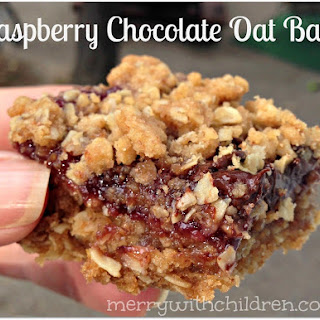 Scrumptious Raspberry Chocolate Oat Bars ~ Week 6 of 52 Weeks of Cookies and Cocktails