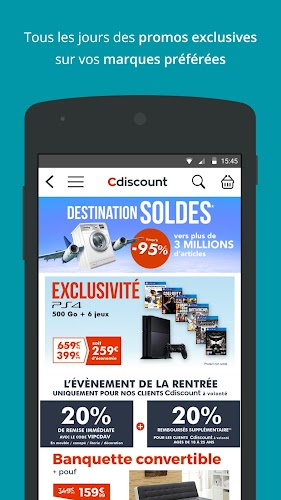 Cdiscount - Shopping mobile Android App Screenshot