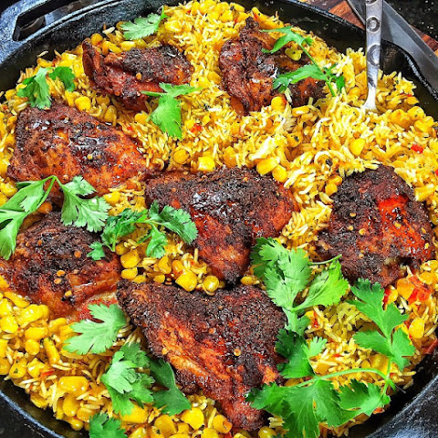 Sweet Corn & Chicken Paella