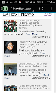 Nigeria News Portal - screenshot