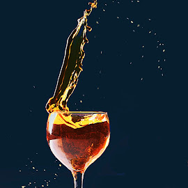 Splash 1 by Roy Branford - Food & Drink Alcohol & Drinks ( wine, splash, wine glass, splash water photography, trick )