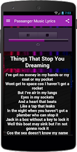 Passanger Music & Lyrics - screenshot