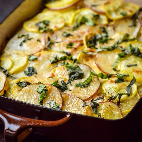 Potato, Squash, & Goat Cheese Gratin