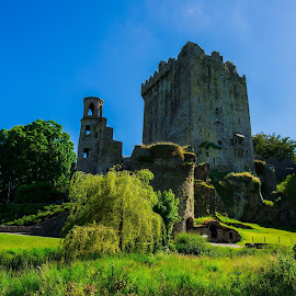 In the middle of nowhere...... by Jeana Caywood - Buildings & Architecture Public & Historical ( green field, blue sky, ireland, majestic, castle,  )