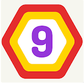 UP 9 - Hexa Puzzle! Merge Numbers to get 9 icon