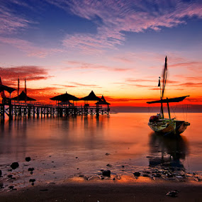Morning at Kenjeran by Andy R Effendi - Landscapes Waterscapes ( kenjeran, indonesia, sunrise, landscape, surabaya )