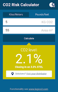 CO2 Risk Calculator - screenshot