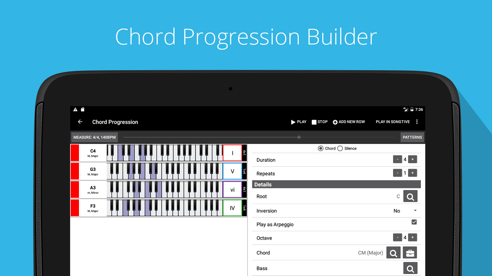 Piano Chords Companion PRO Screenshot 7