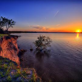 Drop off by Derrill Grabenstein - Landscapes Sunsets & Sunrises
