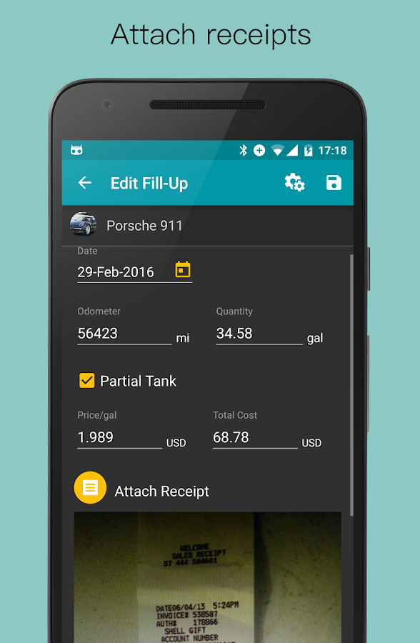 Fuel Buddy - Car Management; Fuel and Mileage Log Screenshot 5