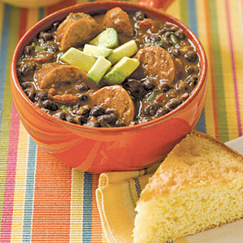 Black Bean Soup with Sausage