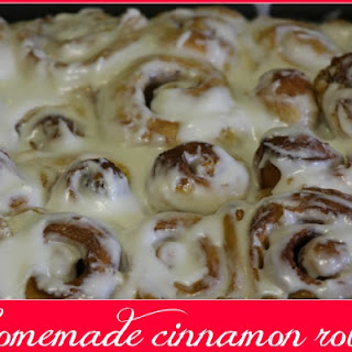 Easy Homemade Cinnamon Rolls #linky