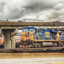Engine by Richard Michael Lingo - Transportation Trains ( interstate, expressway, locomotive, transportation, trains )