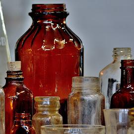 Mr. Pibb by Erin Czech - Artistic Objects Glass ( soda bottle, amber, glass, glass bottles, bottles )