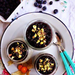 Coconut Chia Pudding with Bluberry Ginger Compote