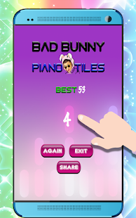 Bad Bunny Piano Tiles
