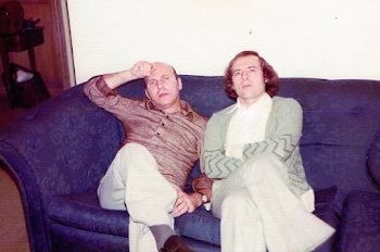 With Hans Werner Henze, at home, London, 1973
