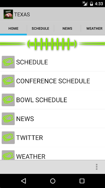Schedule Texas Longhorns screenshots