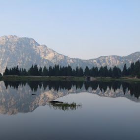 Nassfeld by Geert Vanhaverbeke - Landscapes Waterscapes ( nassfeld, mountains, trees, lake, nowind, austria, refelection )