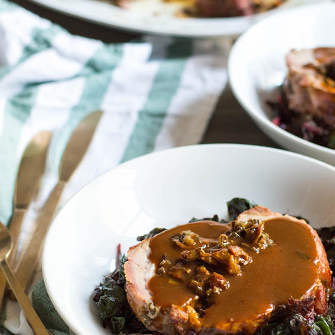 Cherry and Wild Rice Stuffed Pork Loin Roast