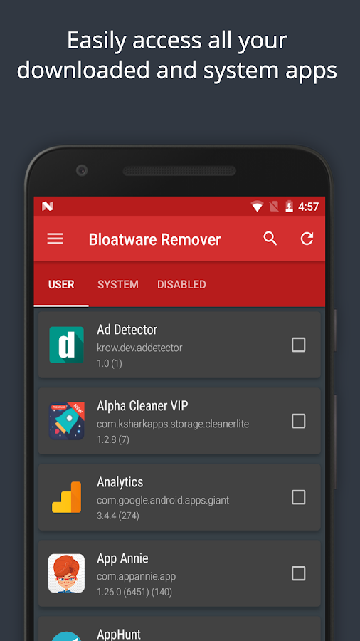Bloatware Remover VIP [Clean bloat] - 50% OFF Screenshot 1