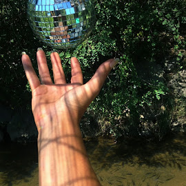 disco ball by Dora Verlic - Instagram & Mobile Other ( water, hand, disco ball, nature, fish )