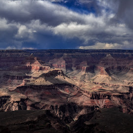 Stormy Canyons by Curtis Forrester - Landscapes Travel ( stormy, national park, grand canyon np, nature, canyon(s), horizontal, arizona, parks/monuments, landscape, united states of america )