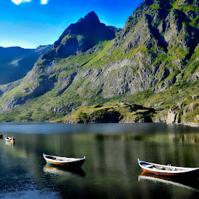 by Bente Agerup - Landscapes Mountains & Hills ( water, hills, mountains, boats, sea )
