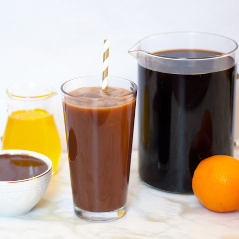 Dark Chocolate Orange Iced Coffee
