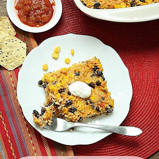 Southwest Corn, Rice & Bean Casserole