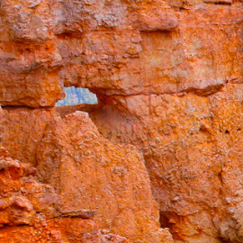 Through the Faraway Arch by Darlene Dunnum - Nature Up Close Rock & Stone ( orange rock, orange, national park, rock formations, arch, utah, bryce, canyon, rock arch, rocks, bryce canyon )