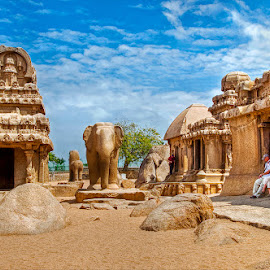 Pancha Rathas, Mahabalipuram by Sagarika Roy - Buildings & Architecture Public & Historical (  )