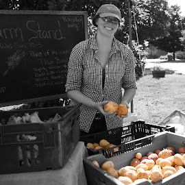 Farm Stand  by Lorraine D.  Heaney - People Street & Candids