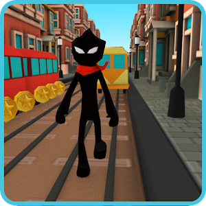 Stickman Subway Runner - City Surf For PC