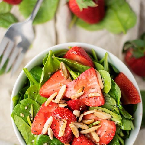 Best-Ever Strawberry Spinach Salad with Poppyseed Dressing