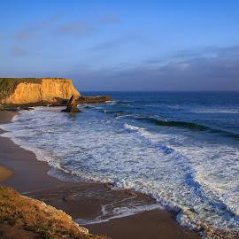 Davenport Beach by Gannon McGhee - Landscapes Beaches ( davenport, sand, waves, california, beach )