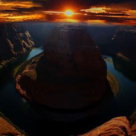 by Alexz Hernandez - Landscapes Sunsets & Sunrises ( colorado river, sunset, arizona, canyon, horseshoe bend,  )