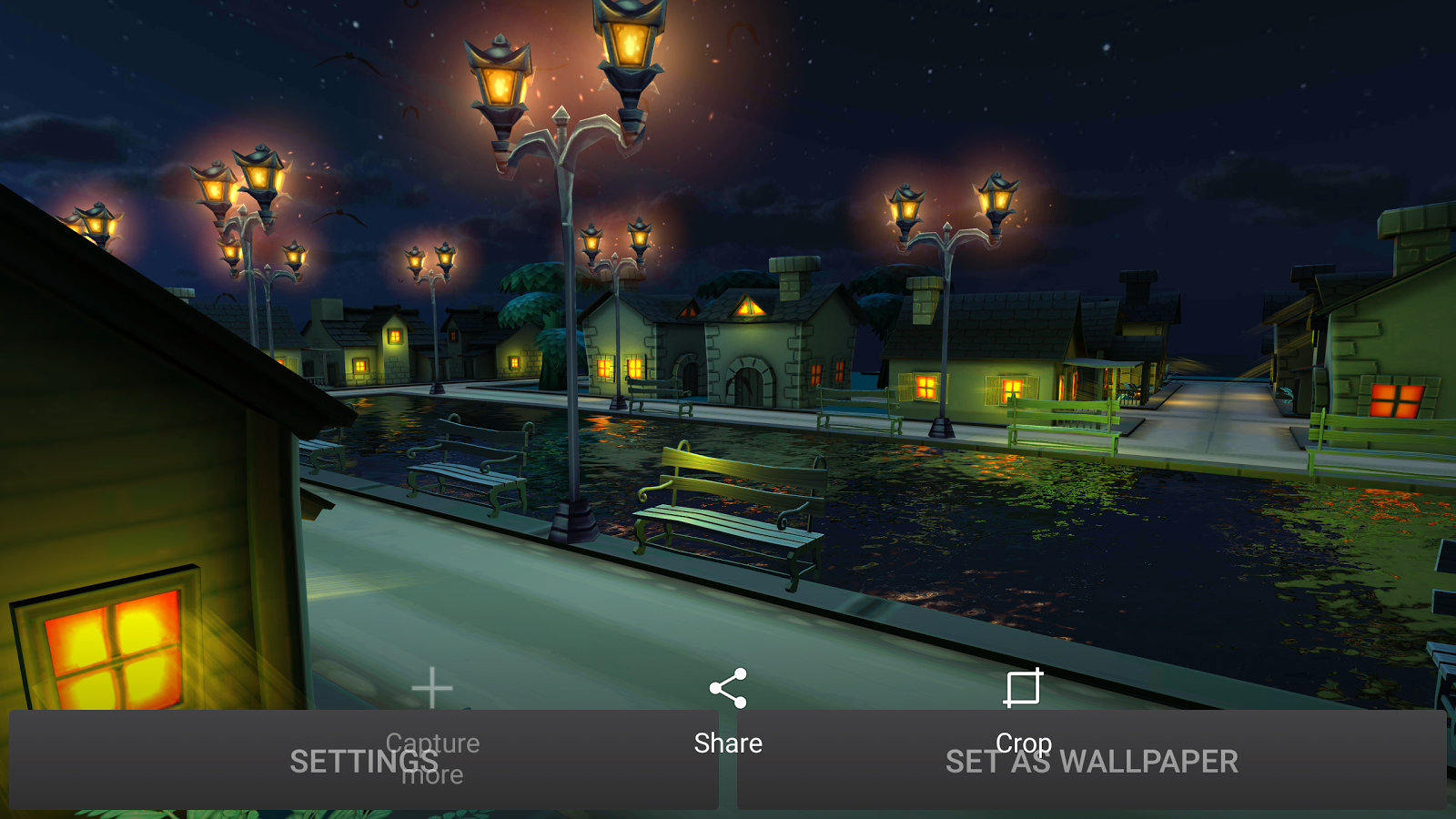Cartoon Night Live Wallpaper Screenshot 13