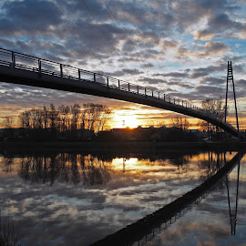 Bridge in the sunrise by Michal Fokt - Buildings & Architecture Bridges & Suspended Structures ( sunrise, bridge )