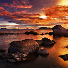 Burning Sky by Bobby Bong - Landscapes Waterscapes
