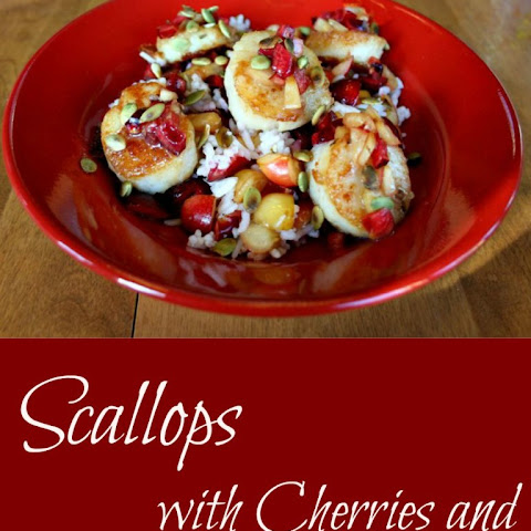Scallops with Cherries and Pumpkin Seeds -