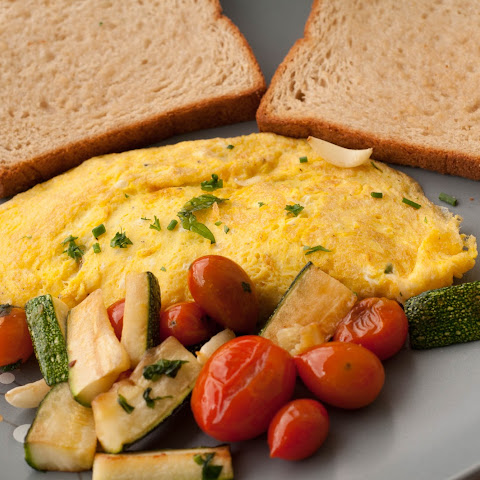 Omelette With Cheese And Herbs
