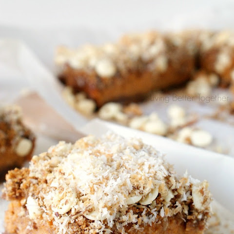 White Chocolate Coconut Sweet Potato Pie Bars