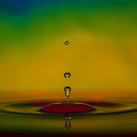 Water drops by Radek Lauko - Abstract Water Drops & Splashes ( water, water drops, colorful )